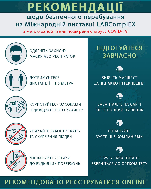 Рекомендовані правила безпечного перебування на LABComplEX