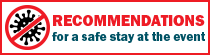 Recommendations for a safe stay at the events